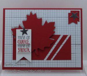 Canada Day card www.cynthiascreativecorner.com